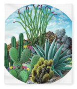 Cactus Garden 2 Fleece Blanket