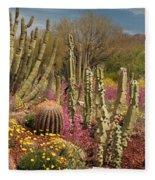 Cactus Garden II Fleece Blanket