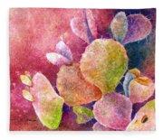 Cactus Heart Fleece Blanket