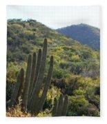 Cactus In The Desert  Fleece Blanket