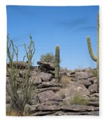Cactus Land Fleece Blanket