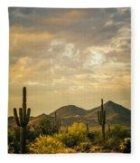 Cactus Morning Fleece Blanket