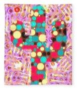 Cactus Pop Art Fleece Blanket