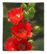Cactus Red Beauty Fleece Blanket