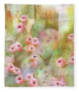 Cactus Rose Fleece Blanket