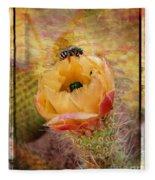 Cactus Spring Beauty W Frame Fleece Blanket