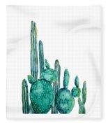 Cactus Watercolor 1 Fleece Blanket