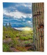 Cactus With Teeth Fleece Blanket