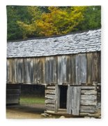 Cades Cove Barn Fleece Blanket