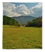 Cades Cove Pasture Fleece Blanket