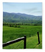 Cades Cove View Fleece Blanket