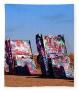 Cadillac Ranch  Fleece Blanket