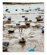 Cadiz Spain Low Tide Fleece Blanket