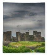Caerphilly Castle East View 3 Fleece Blanket