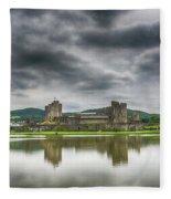 Caerphilly Castle North View 1 Fleece Blanket