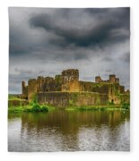 Caerphilly Castle South East View 1 Fleece Blanket