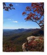 Caesars Head State Park In Upstate South Carolina Fleece Blanket