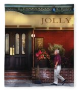 Cafe - Jolly Trolley Fleece Blanket