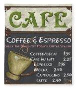 Cafe Chalkboard Fleece Blanket by Debbie DeWitt