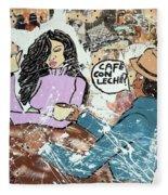 Cafe Con Leche Fleece Blanket