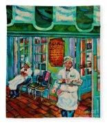 Cafe Du Monde Revisited  Fleece Blanket