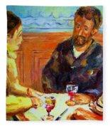 Cafe  Homage  De Pierre Auguste Fleece Blanket