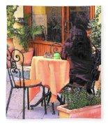 Cafe In Montepulciano Tuscany Fleece Blanket