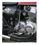 Cb750 Cafe Racer Fleece Blanket
