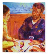Cafe Renoir Fleece Blanket