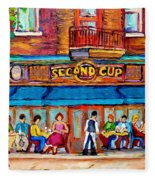 Cafe Second Cup Terrace Fleece Blanket