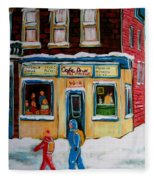 Cafe St. Viateur Montreal Fleece Blanket