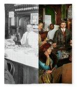 Cafe - Temptations 1915 - Side By Side Fleece Blanket