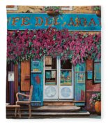 caffe del Aigare Fleece Blanket