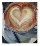 Caffe Vero's Heart Fleece Blanket