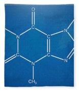 Caffeine Molecular Structure Blueprint Fleece Blanket