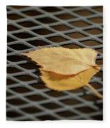 Caged Leaf Fleece Blanket
