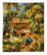 Cagnes Landscape 1 Fleece Blanket