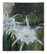 Cahaba Lilies Fleece Blanket