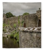 Cahir Castle 1384 Fleece Blanket