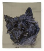 Cairn Terrier Fleece Blanket