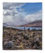 Cairns Of Loch Loyne Fleece Blanket