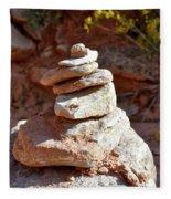Cairns Rock Trail Marker Colorado Plateau Kanab Utah 01 Fleece Blanket