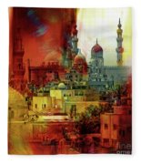 Cairo Egypt Art 01 Fleece Blanket