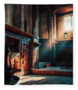 Cairo, Egypt -  Interior Of A Room In The Famous Bayt Al Suhaymi Located At Al Muizz Street In Cairo Fleece Blanket