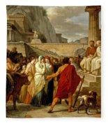 Caius Furius Cressinus Accused Of Sorcery Fleece Blanket