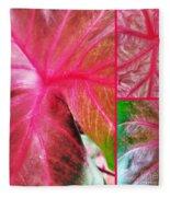 Caladium Red Trio Fleece Blanket