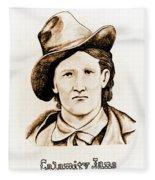 Calamity Jane Fleece Blanket