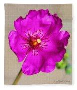Calandrinia Flower Fleece Blanket