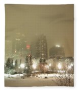 Calgary Alberta 2 Fleece Blanket