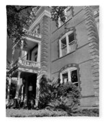 Calhoun Mansion Black And White Fleece Blanket